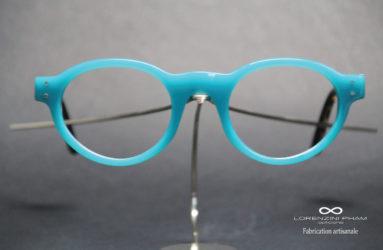 Monture de forme Pantos bleu turquoise
